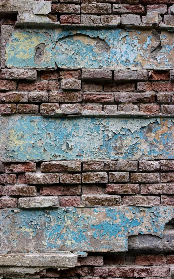 空的老砖墙纹理 免版税图库摄影