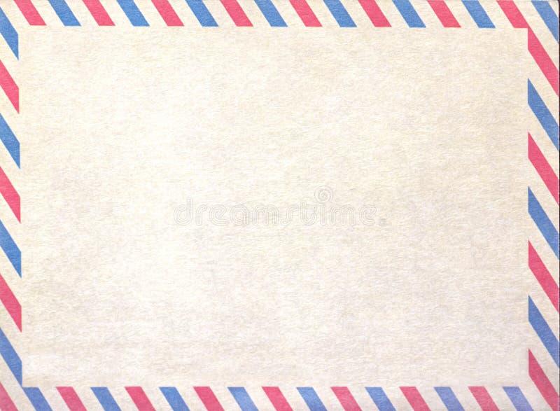 空的航寄空白或信件,纸板纸 库存图片