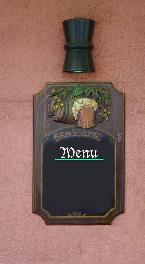 空的菜单黑板 免版税图库摄影