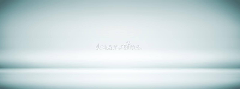 空的蓝色白色演播室背景,摘要,梯度灰色背景,葡萄酒颜色,宽银幕横幅设计 向量例证