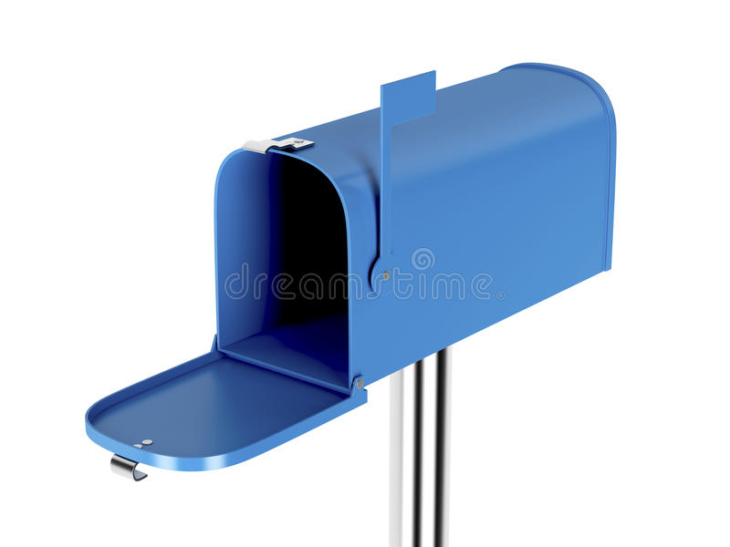 空的蓝色邮箱 库存例证