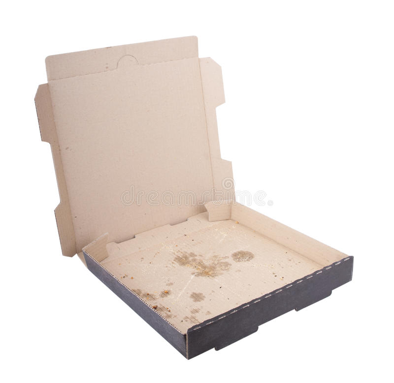空的薄饼配件箱 库存图片