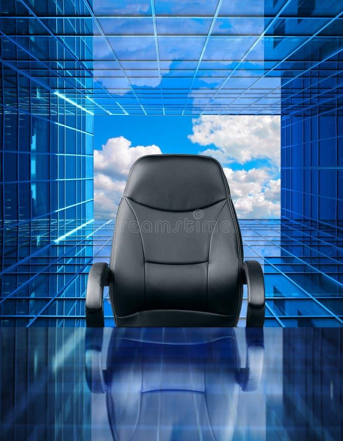 空的行政椅子工作机会概念 免版税图库摄影