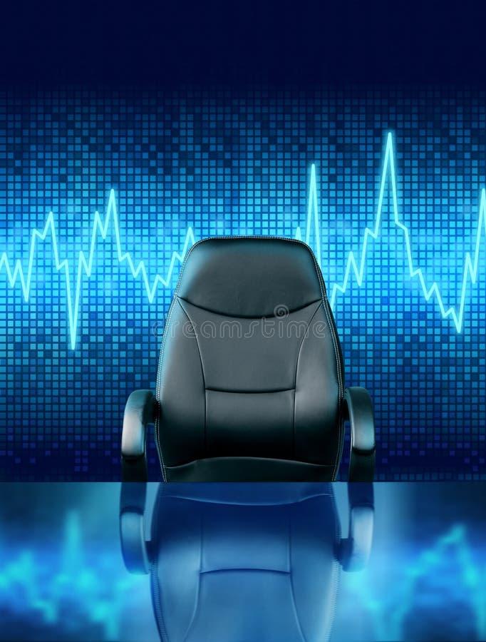 空的行政椅子工作机会概念 免版税库存图片