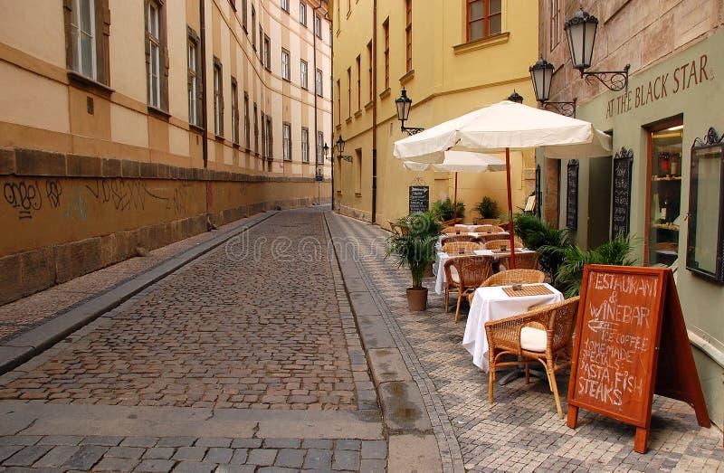 空的街道在布拉格 库存照片