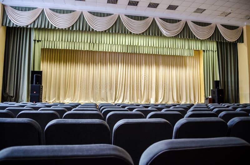 空的观众席大厅 免版税库存图片