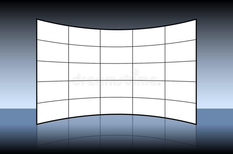 空的视频墙壁 向量例证