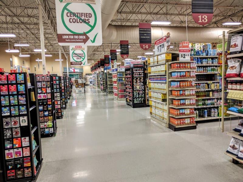 空的超级市场 库存照片
