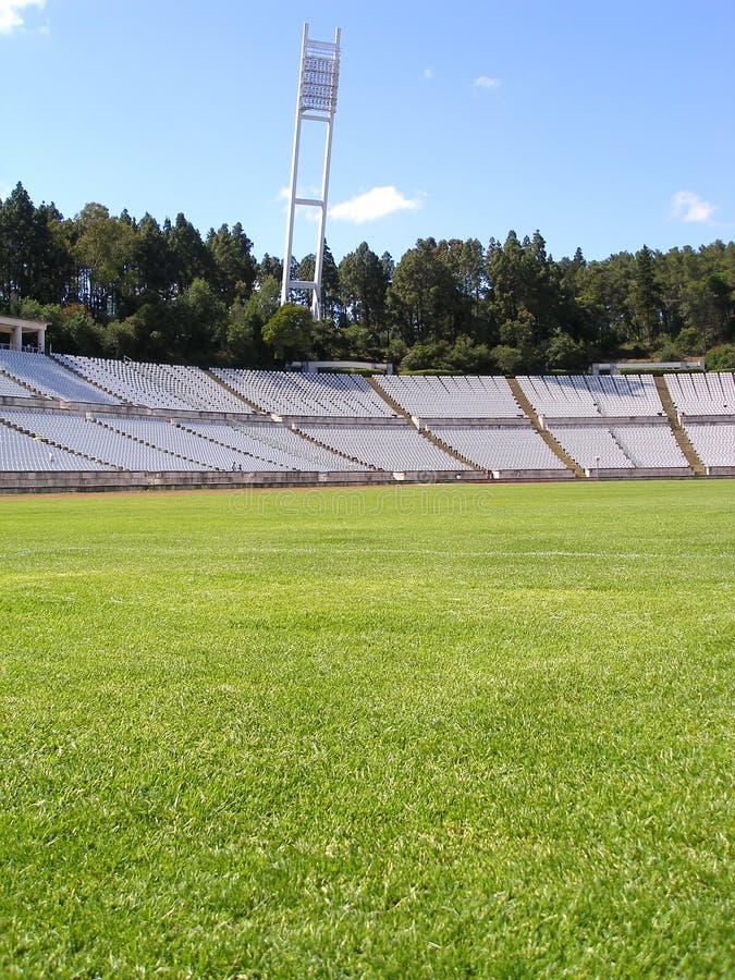 空的足球场 免版税库存图片