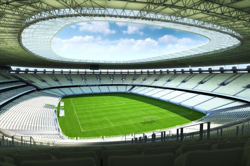 空的足球场 向量例证