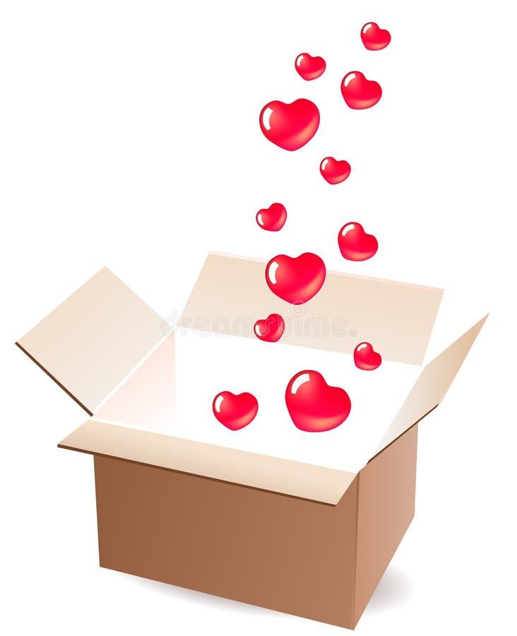 空的配件箱开张 皇族释放例证