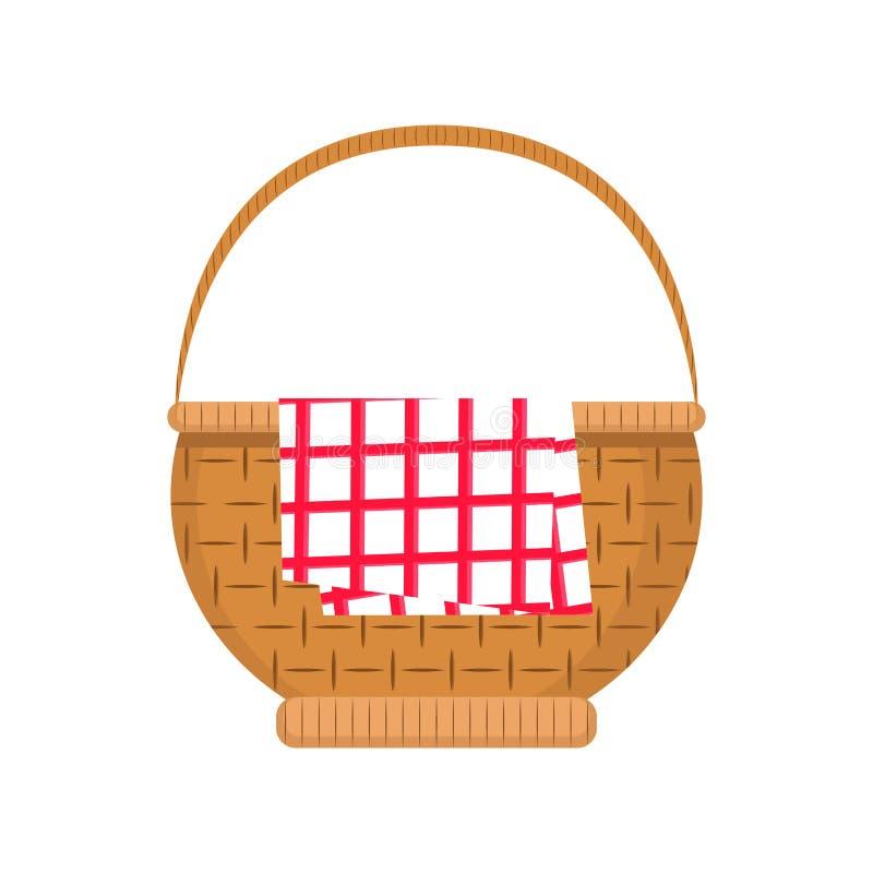 空的野餐篮子象 库存例证