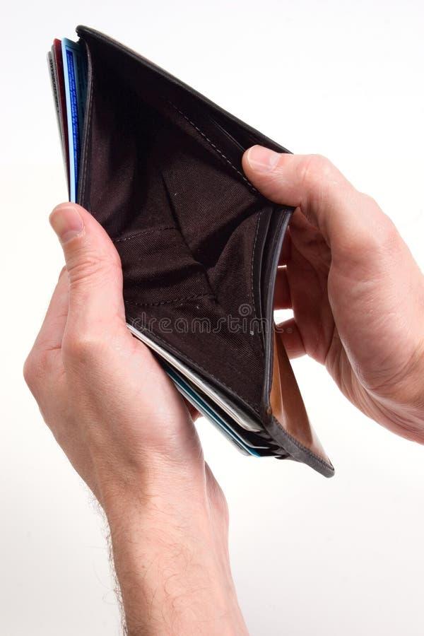 空的钱包 免版税库存照片
