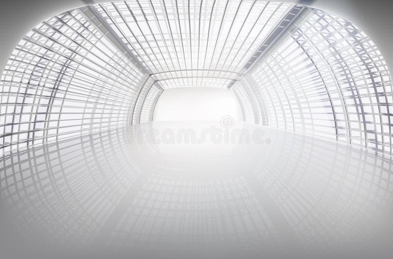 空的陈列大大厅 也corel凹道例证向量 皇族释放例证