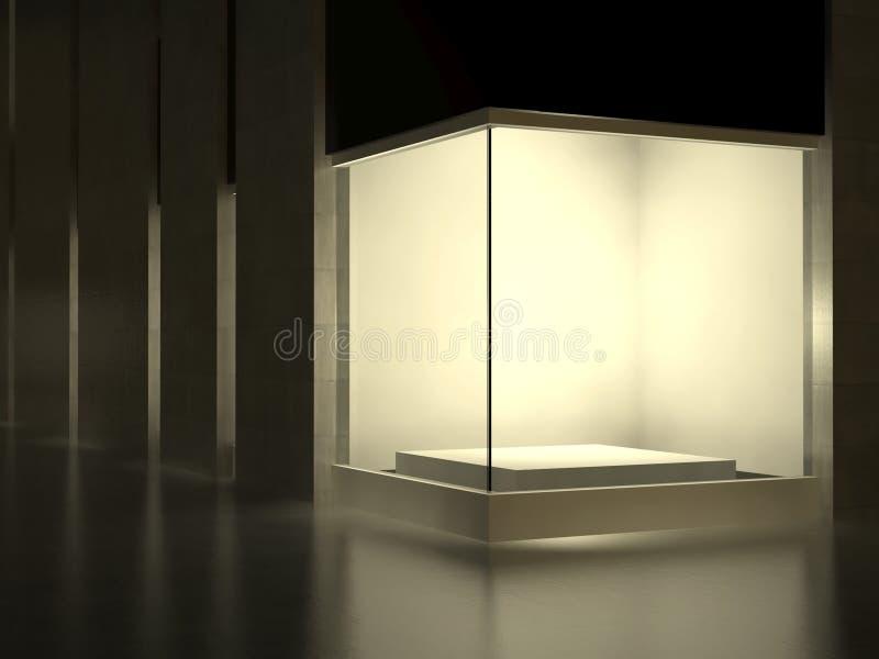 空的陈列玻璃陈列室空间街道 向量例证