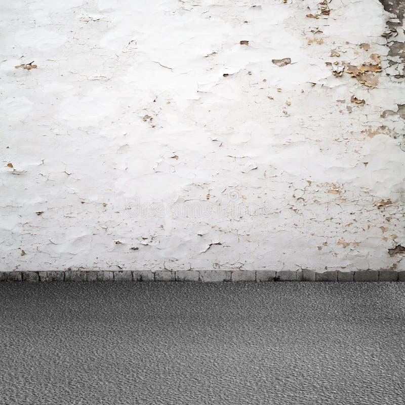 空的难看的东西都市内部背景 免版税库存图片