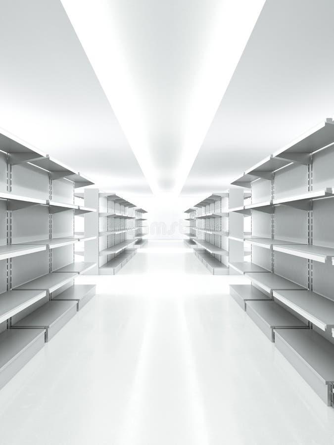 空的零售架子 免版税库存图片