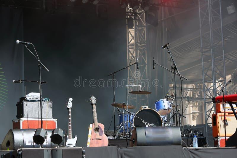 空的音乐会阶段 免版税库存照片
