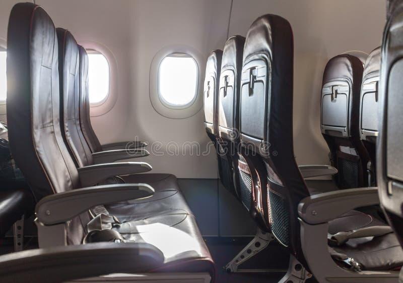 空的飞机座位 库存图片