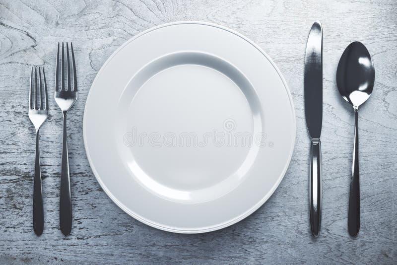 空的餐具 库存例证