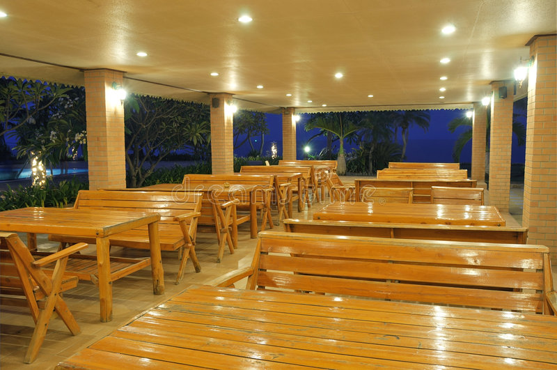 空的餐馆 免版税图库摄影