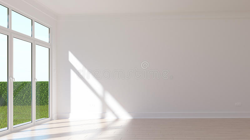 空的晴朗的室 免版税库存照片