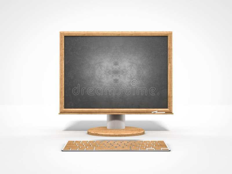 空的黑板作为计算机显示器象 皇族释放例证