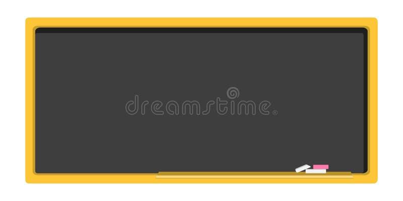 空的黑板,在一个平的设计的校务委员会 皇族释放例证
