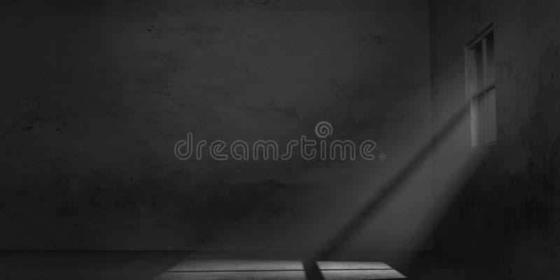 空的阴沉的室 库存例证
