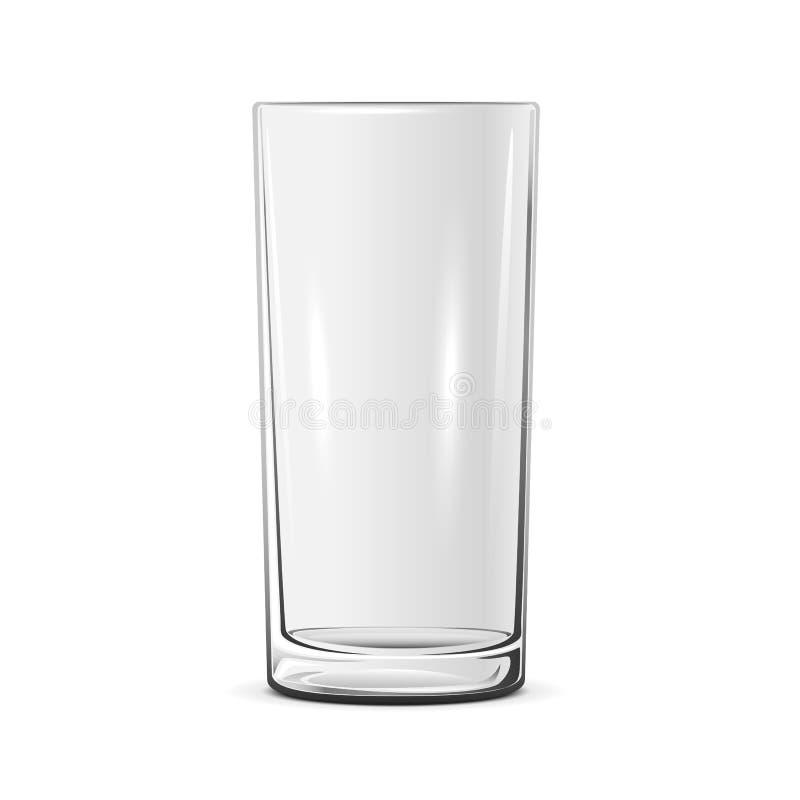 空的玻璃 库存例证