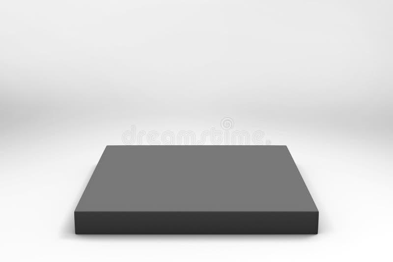 空的黑立方体背景 免版税库存图片