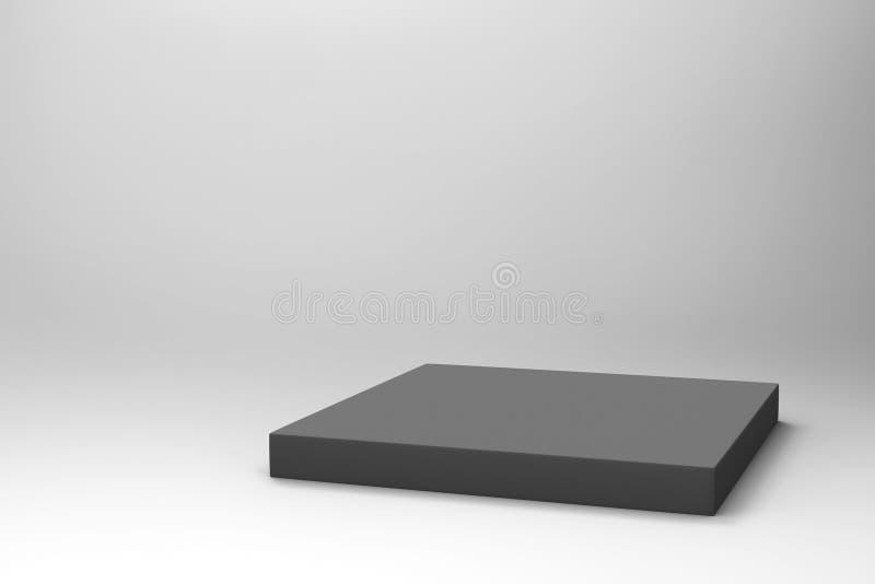 空的黑立方体背景 库存图片