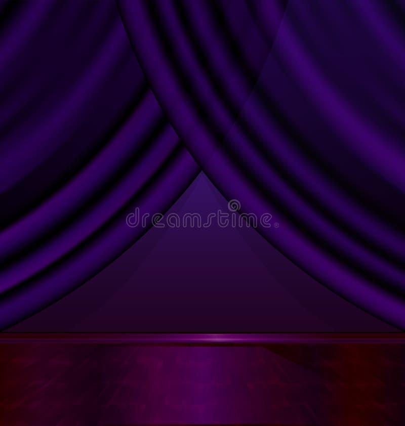 空的紫罗兰色室 库存例证