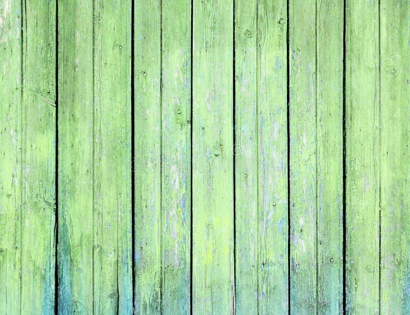 空的绿色木头的表面 图库摄影