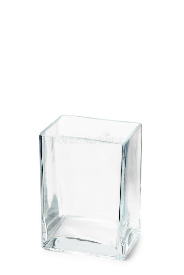 空的Parallelepipedic水晶花瓶 免版税库存图片