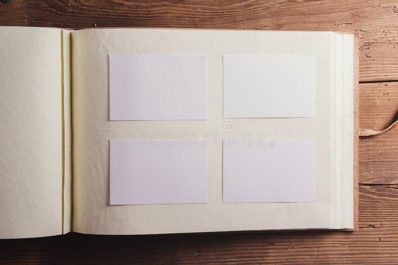 空的photoalbum 免版税库存图片