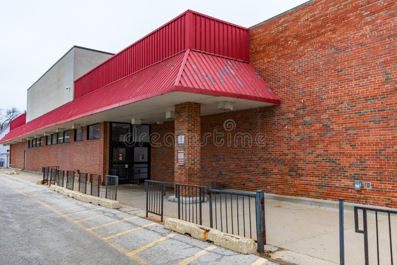 空置杂货店外部在芝加哥 库存照片