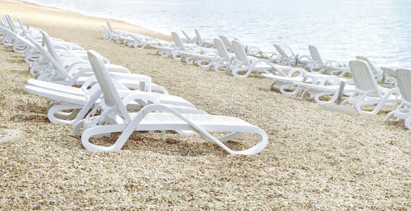 空置海滩 库存照片
