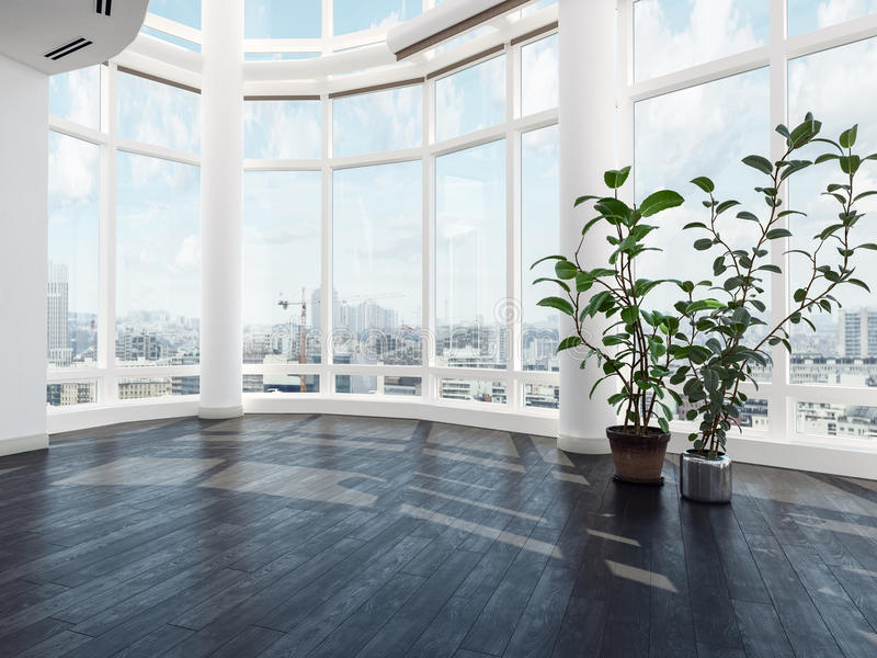 空置现代豪华公寓或顶楼房屋 库存例证