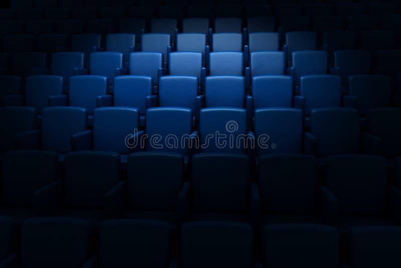 空观众席的戏院 向量例证