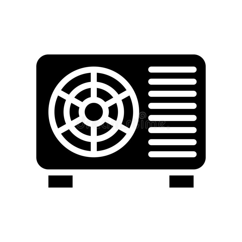 空调压缩机单位向量例证,被隔绝的坚实样式象 向量例证