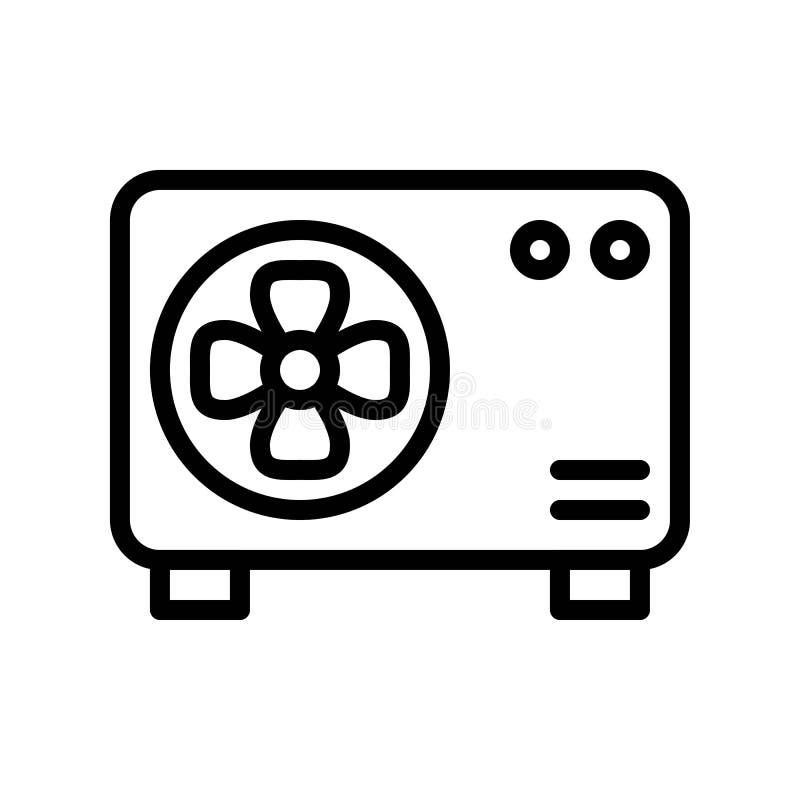 空调压缩机单位向量例证,被隔绝的线型象 库存例证