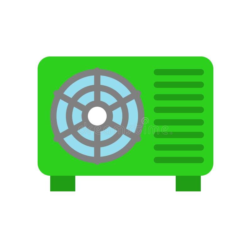 空调压缩机单位向量例证,隔绝了filat样式象 向量例证