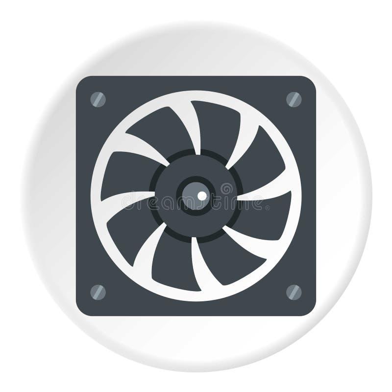 空调器压缩机单位象圈子 向量例证
