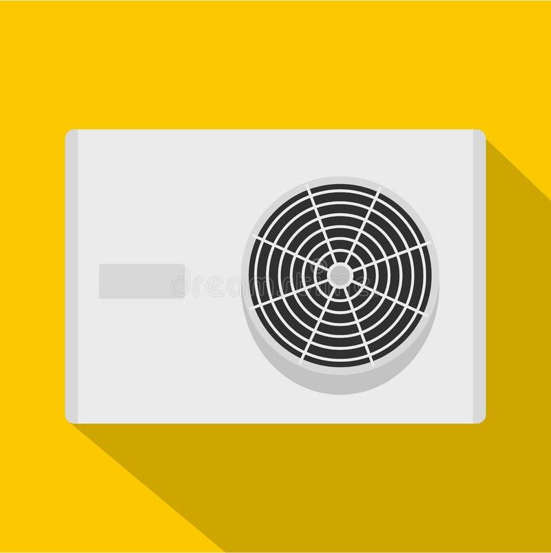 空调器压缩机单位象,平的样式 库存例证