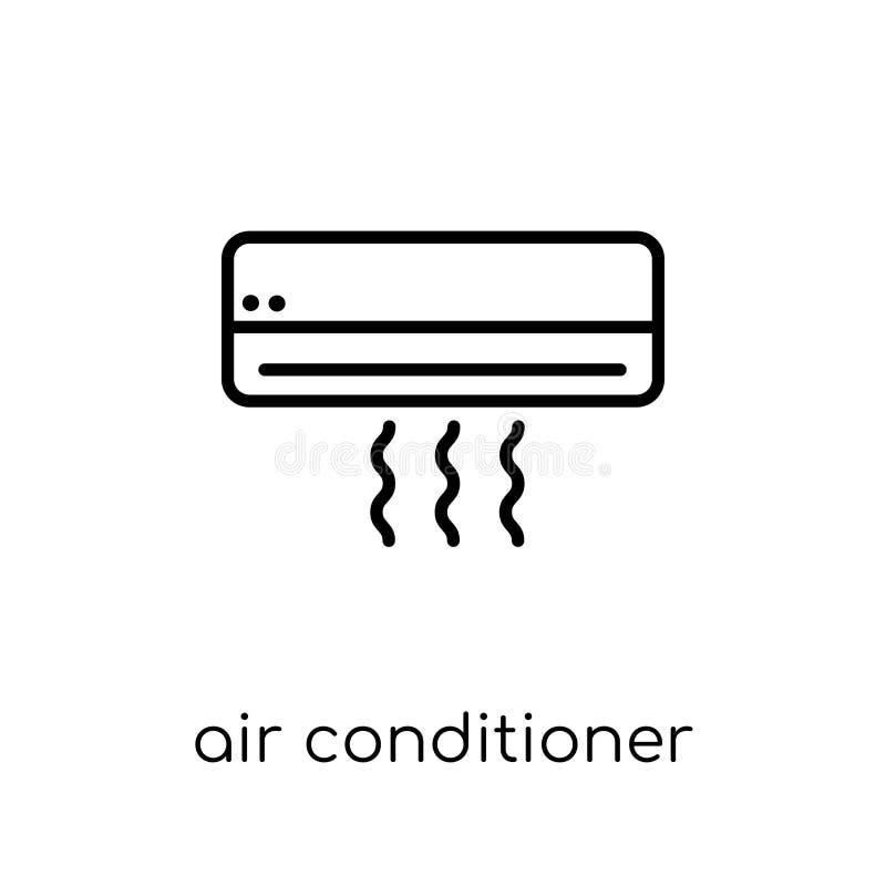 空调器象 时髦现代平的线性传染媒介空气condi 向量例证