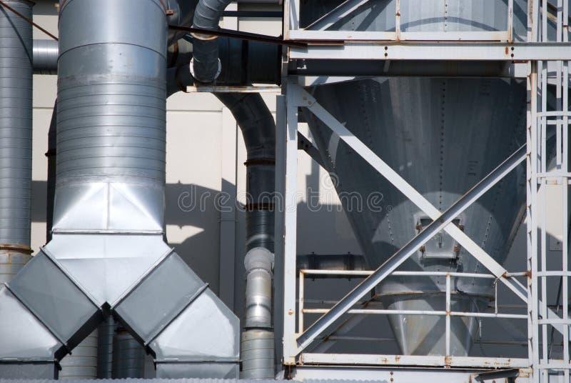 空调器输送管行业工作 库存照片