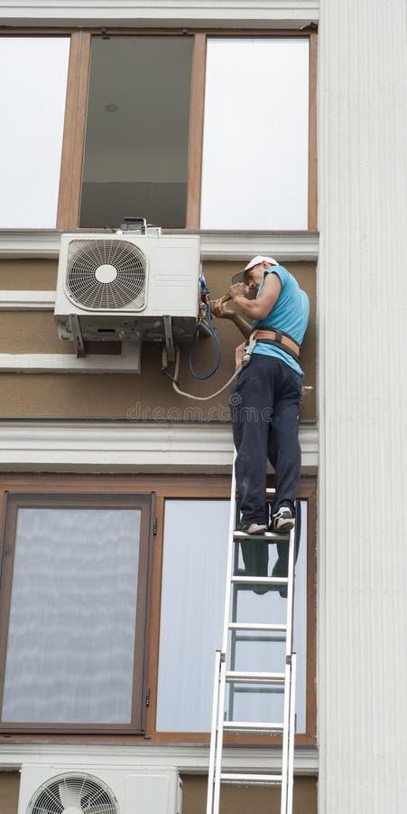 空调的设施 免版税库存照片