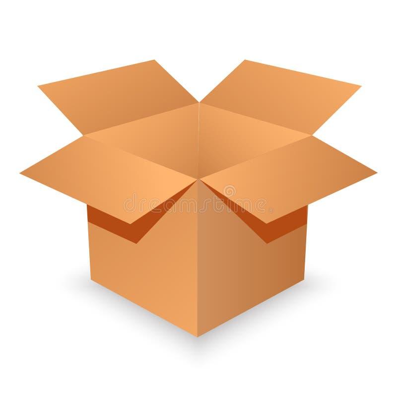 空配件箱的纸板开张 例证 库存例证