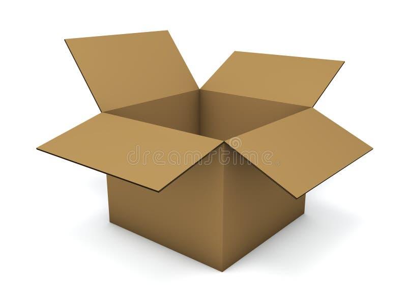 空配件箱的纸板 库存例证